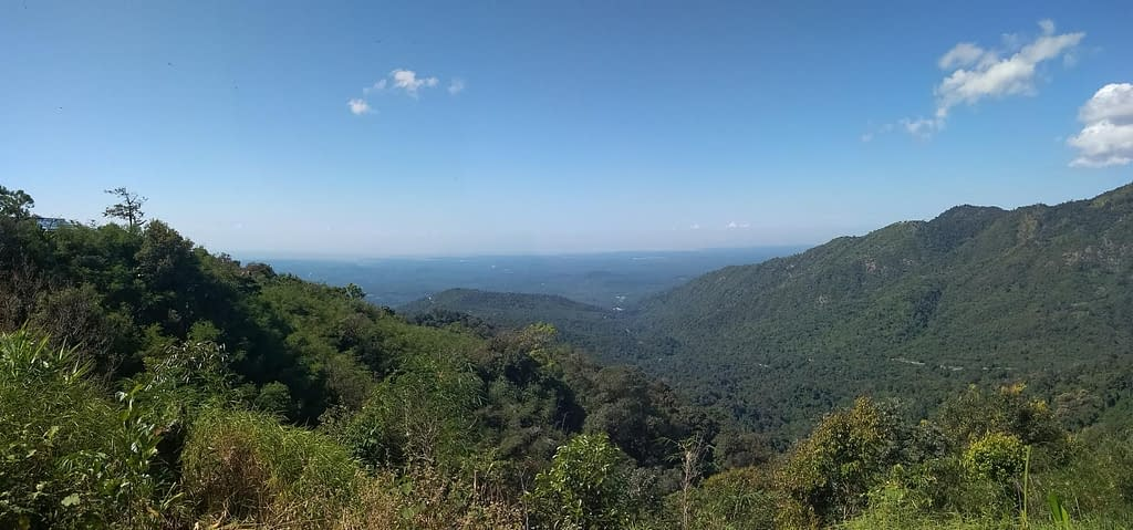 Scenic ridge line leads to Kyaiktiyo Golden Rock