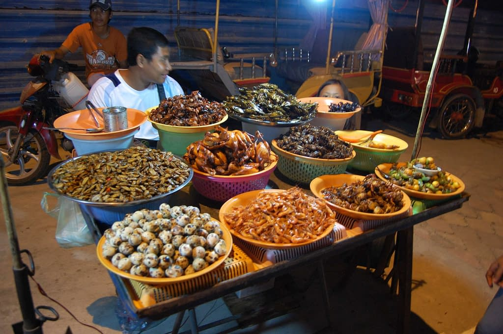 Eating Insects in Phnom Penh, Cambodia