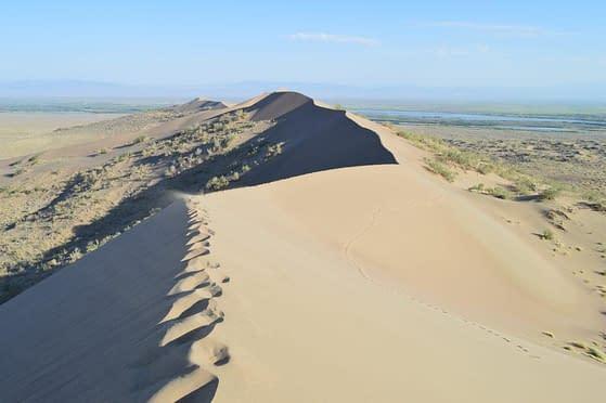Unique Kazakhstan sand dunes