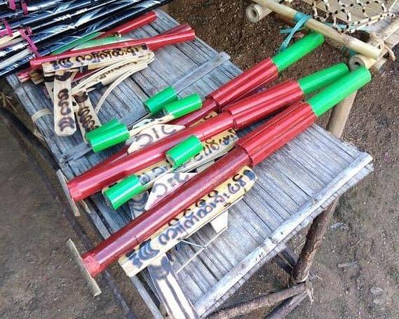 Bamboo Toy Machine Guns