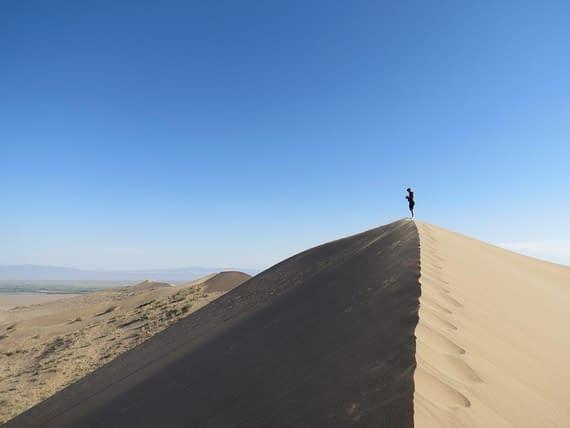 Highest sand dune Kazakhstan