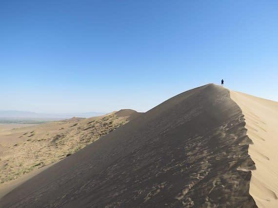 Sand dune ridge Kazakhstan