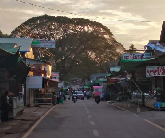 Main Street Kinpun Myanmar