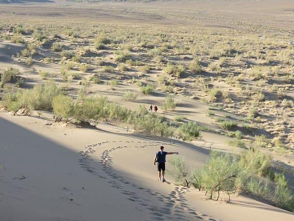 Walking down Sand dunes
