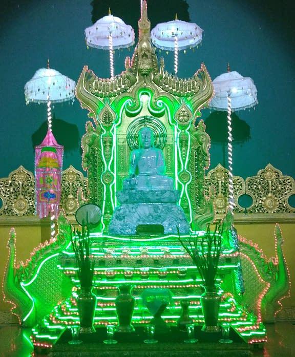 Jadeite Kassapa Buddha Statue